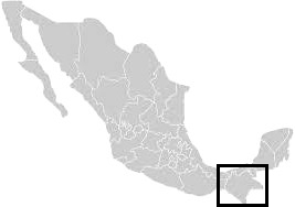 Greyscale map of Mexico