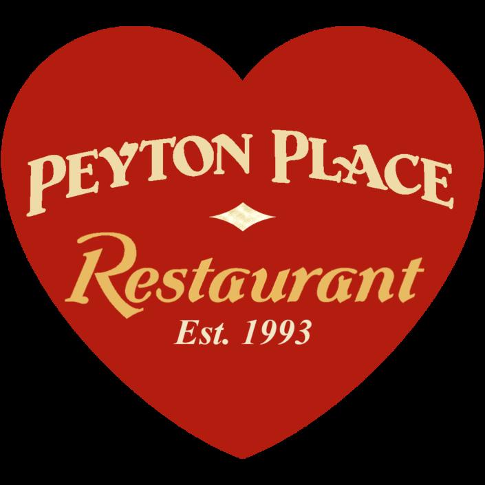 Peyton Place Restaurant Est. 1993 inside heart logo